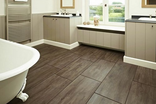 Vinyl flooring and fitting